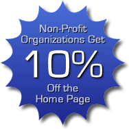 Griffin Web Design gives 10% off every home page design for non-profit organizations.