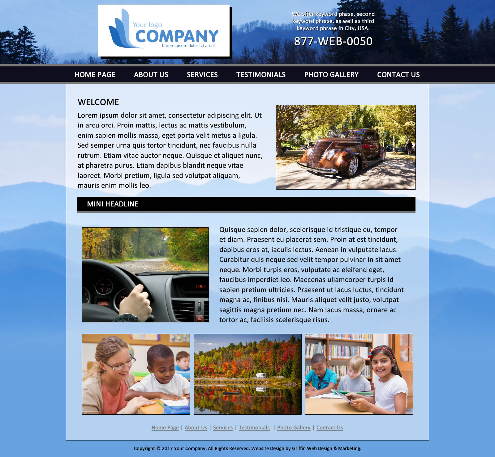 Griffin Web Design LLC Custom Web Design Marketing Atlanta - Template based web design