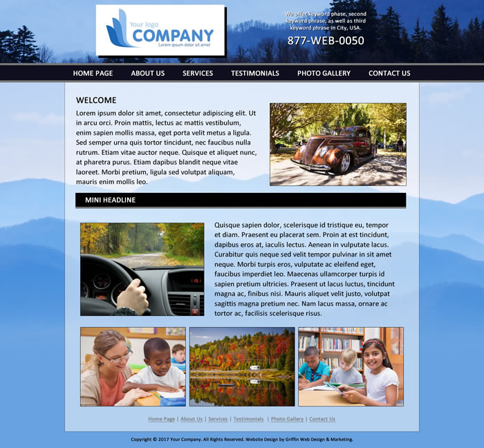 Economical web design template
